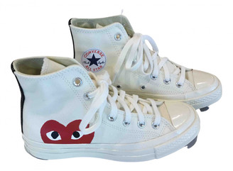 Converse Womens White Trainers   Shop