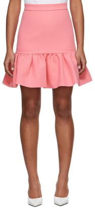 MSGM Pink Ruffled Miniskirt