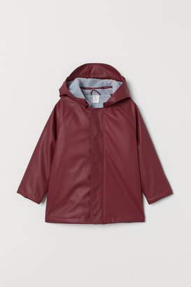 H&M Fleece-lined Rain Jacket - Red