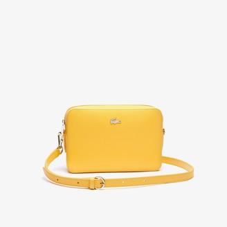Lacoste Womens Chantaco Leather Square Shoulder Bag