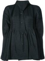Issey Miyake flared textures shirt