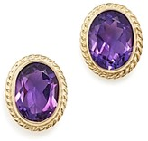 Bloomingdale's Amethyst Oval Medium Bezel Stud Earrings in 14K Yellow Gold - 100% Exclusive