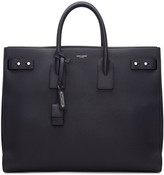 Saint Laurent Navy Large Sac De Jour Tote
