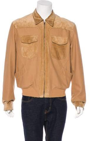 Gucci Suede-Trimmed Jacket