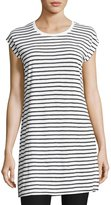 Eileen Fisher Seaside Striped Organic Linen Tunic, White/Black