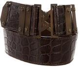 Proenza Schouler Crocodile Waist Belt