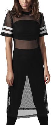 Urban Classics Women's Ladies Mesh Long Tee T - Shirt