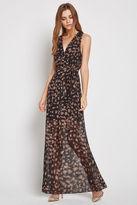 BCBGeneration Printed Surplice Maxi Dress - Brown