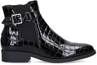 Carvela Crocodile-Embossed Rich Boots 35