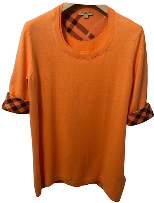Burberry Orange Cashmere Top for Women