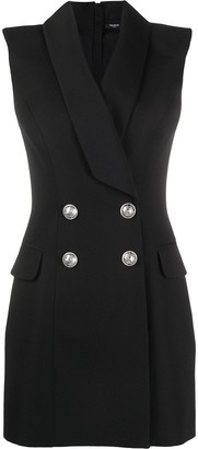 Balmain Sleeveless Blazer Dress