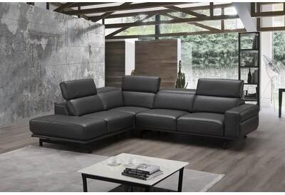 Orren Ellis Harrisonville 112 2 Wide Genuine Leather Sofa Chaise Orientation Left Hand Facing Shopstyle Sectionals
