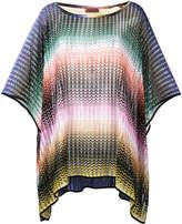 Missoni Mare short zig-zag stripe poncho