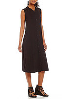 Eileen Fisher Petites Mandarin Collar Dress