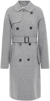 Masscob Montmatre Double-breasted Belted Wool-blend Coat