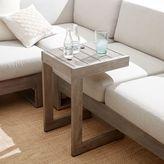 west elm Portside C-Shaped Side Table - Weathered Gray
