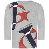John Galliano John GallianoBaby Boys Grey Long Sleeve Logo Top