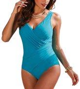 GWELL Womens Plus Size Polka Dot One Piece Swimsuit Swimwear Monokini