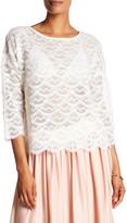 T Tahari Lillian Fringe Shirt