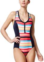 Anne Cole Locker Striped Active One-Piece
