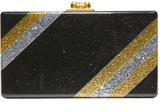 Edie Parker Jean Diagonal Stripe Clutch