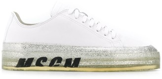 MSGM Floating logo print sneakers