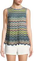M Missoni Wave Ripple-Knit Tank Top