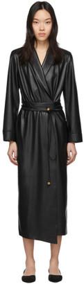 Nanushka Black Vegan Leather Emery Dress