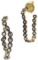 Freida Rothman Geo Stone Radiance Curve Hoop Earrings