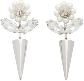 Simone Rocha Silver Flower and Spike Earrings