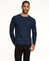 Le Château Tonal Cotton Blend Henley Sweater