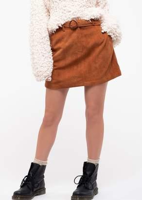 Blu Pepper Belted Corduroy Skirt