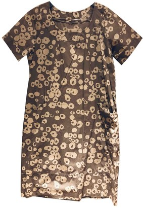 Stella Forest Grey Cotton Dress for Women