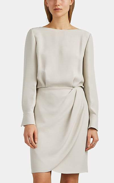 Giorgio Armani Women's Silk Crepe Blouson Dress - Ivorybone