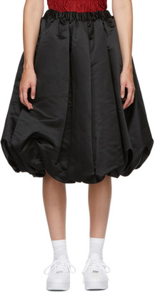 Comme des Garcons Black Satin Midi Skirt