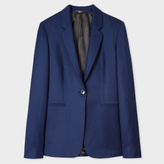 Paul Smith A Suit To Travel In - Women's Navy Puppytooth One-Button Wool Blazer