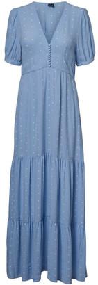 Vero Moda Ally 2/4 V-Neck Ancle Dress Lt