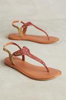 Jasper & Jeera Metallic Leather Sandals