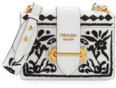 Prada Cahier Embroidered Shoulder Bag