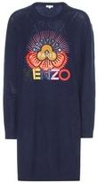 Kenzo Embellished Wool Sweater Dress