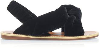 Miu Miu Knotted Velvet Sandals