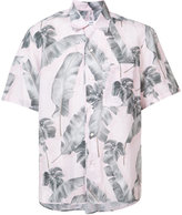 Oamc leaf print shirt - men - Cotton/Linen/Flax - M