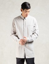 Stampd Grey L/S Elongated Button Down Shirt