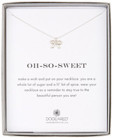 Dogeared Sterling Silver Oh So Sweet Classic Bow Necklace