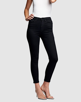 RES Denim Women's Black Crop - Harrys Hi Skinny Crop Jeans - Size One Size, 25 at The Iconic