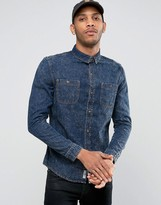 Bellfield Acid Wash Denim Shirt