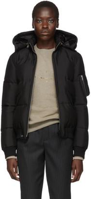 Saint Laurent Black Down Silk Jacket