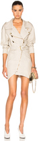 Alexandre Vauthier Belted Linen Dress