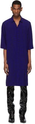 Haider Ackermann Blue and Black Kimono Long Shirt