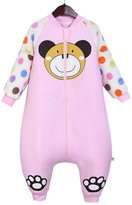 Aivtalk Baby Sleeping Bodysuit Winter Pink Monkey Infant Swaddle Blanket Wrap Toddler Sleeping Bag